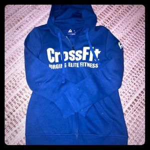 Cross fit zip up hoodie